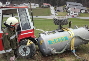 Unfall Gülleschlepper